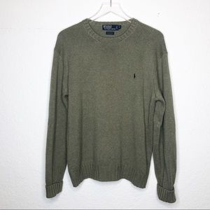 Polo Ralph Lauren | Green Knit Sweater Size Medium